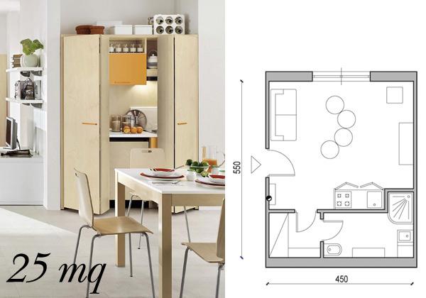 arredare soggiorno e cucina insieme soffocando gli spazi. Soluzioni Da 25 A 60 Mq Foto 1 Livingcorriere