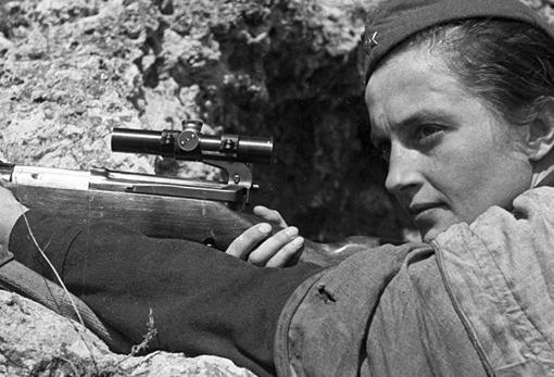 Pavlichenko, durante la Segunda Guerra Mundial