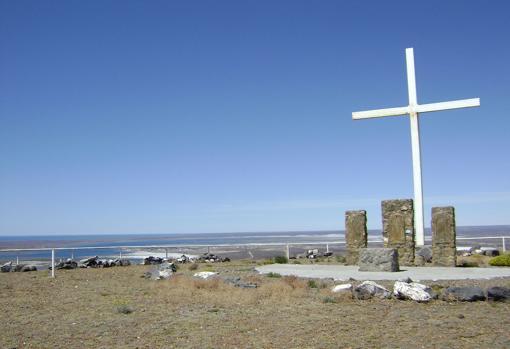 Monte Cristo, in San Julián, where Magellan ordered the erection of a cross