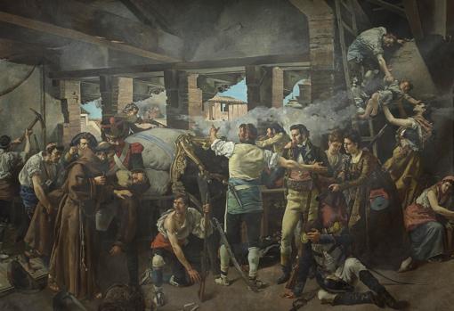 Defense of the convent of Santa Engracia de Zaragoza in 1809