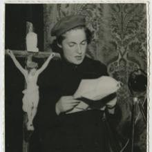 Pilar Primo de Rivera in the National Council of the Women's Section of the Phalanx of 1942