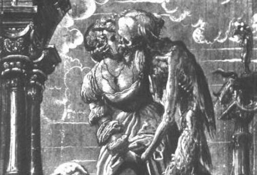 Representación medieval del vampiro