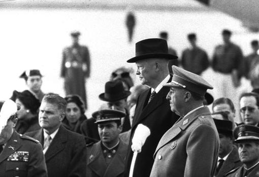 Franco and Isenhower, during the visit