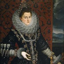 Isabel Clara Eugenia, por Juan Pantoja de la Cruz.