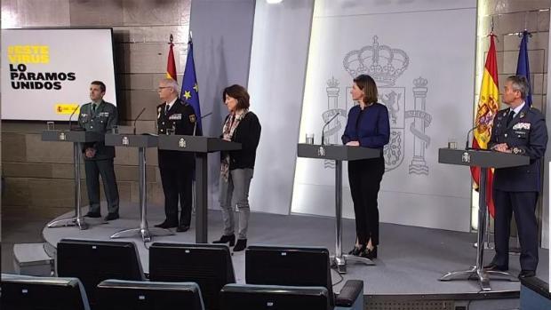 Los expertos del comité técnico, esta mañana en Moncloa