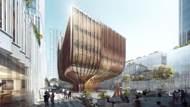 Así será el centro cultural que irá junto al New Pingshan Eye