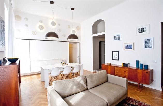 Per dividere una cameretta o anche una sala dalla cucina in open space. Trucchi Scenici In Un Piccolo Open Space Milanese Abitare