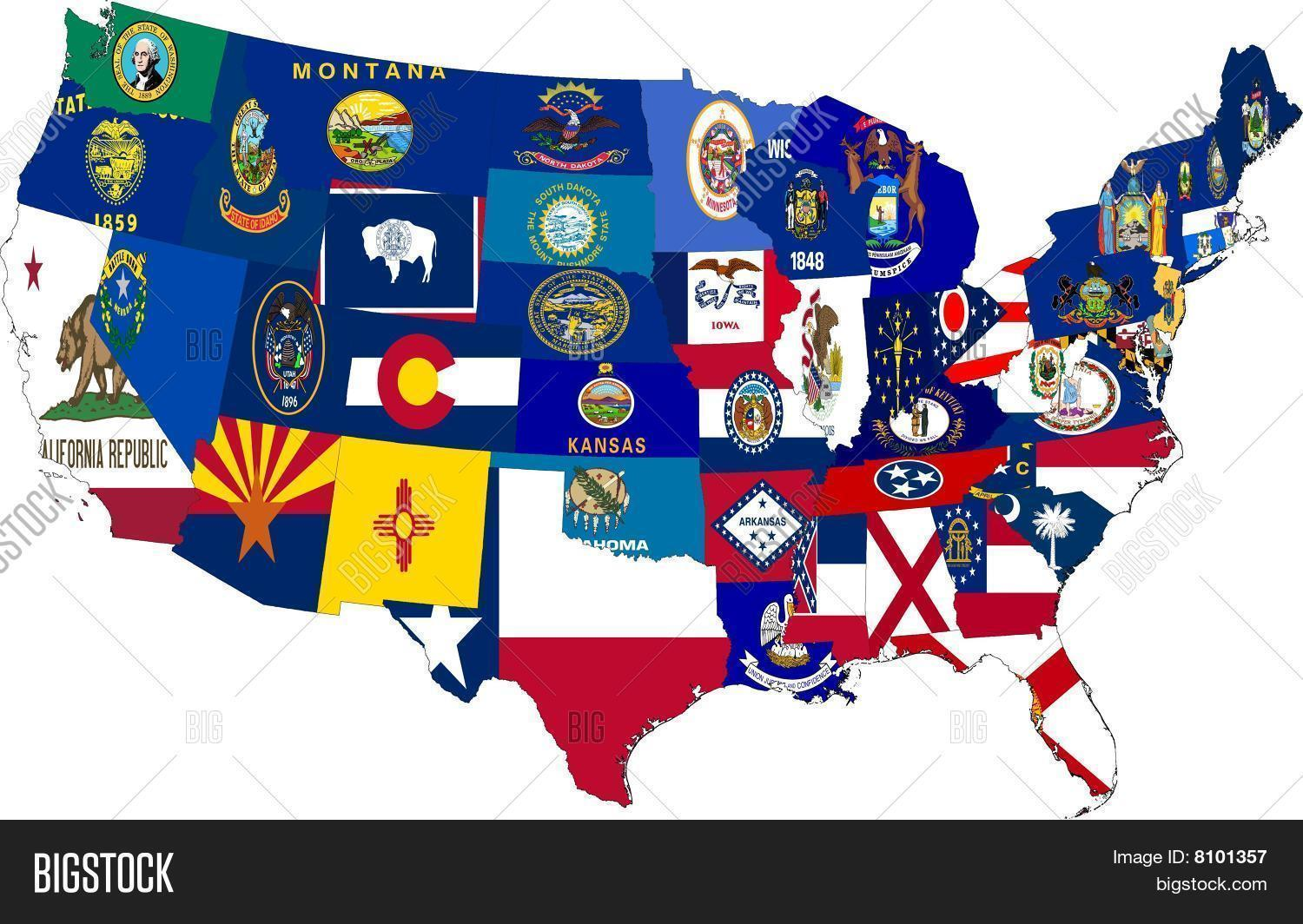 America Map 48 States Image Amp Photo Free Trial
