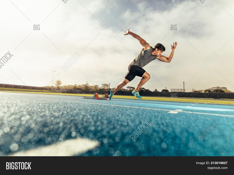 Sprinter Taking Off Image & Photo (Free Trial)   Bigstock