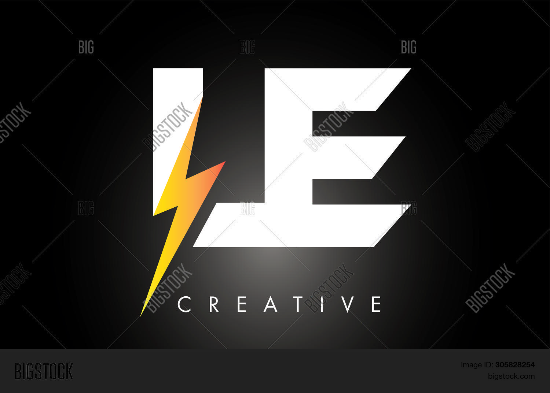 le letter logo design vector photo