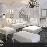 Luxury White Living Image Photo Free Trial Bigstock