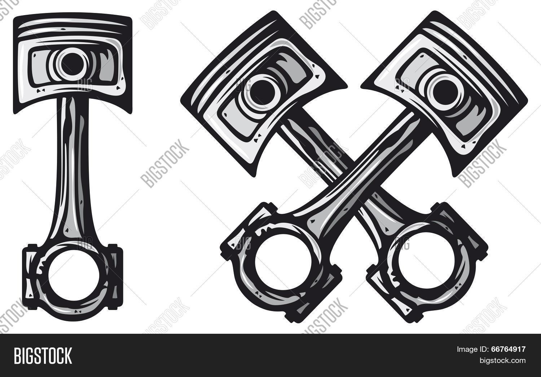 Crossed Engine Pistons Vector Amp Photo