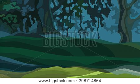 Digital painting background, illustration in cartoon style character. Background Cartoon Vector Photo Free Trial Bigstock