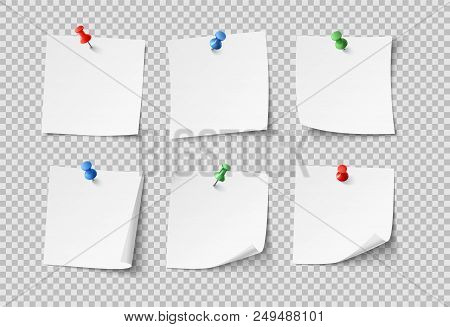 pin blank sticky notes with color pins