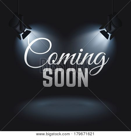 illuminated text coming soon poster id