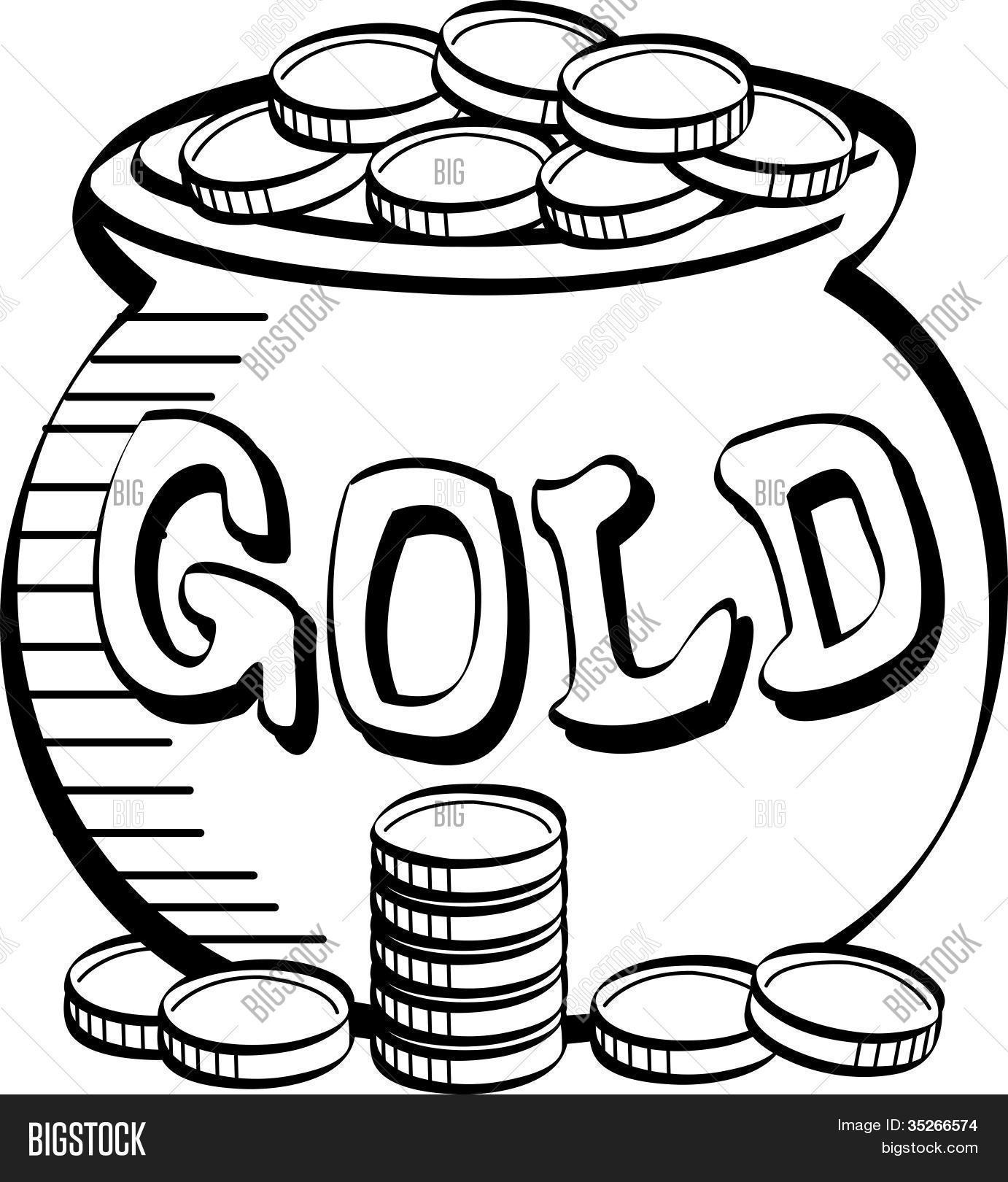 St Patrick S Day Pot Of Gold Clip Art Stock Vector Amp Stock Photos