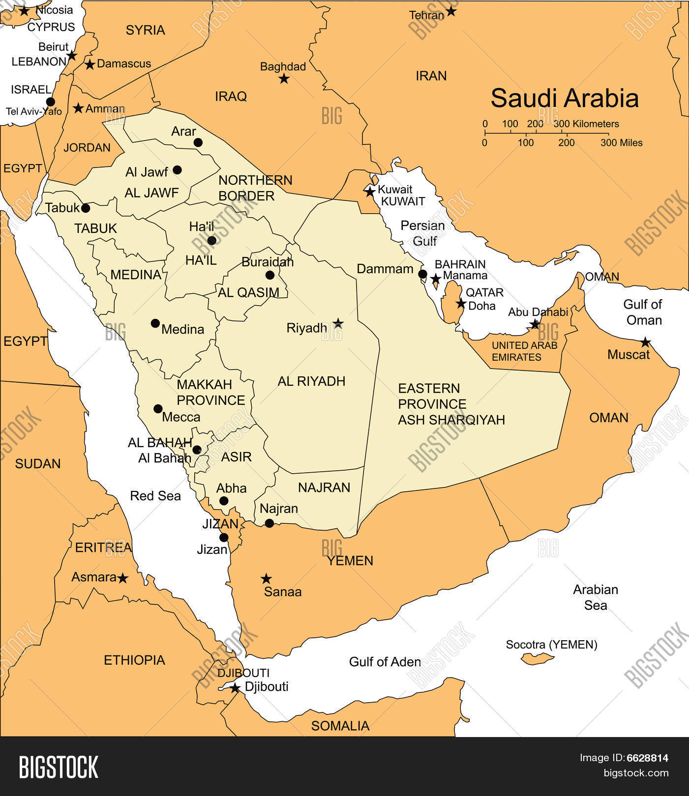 Saudi Arabia Map Coloring Pages