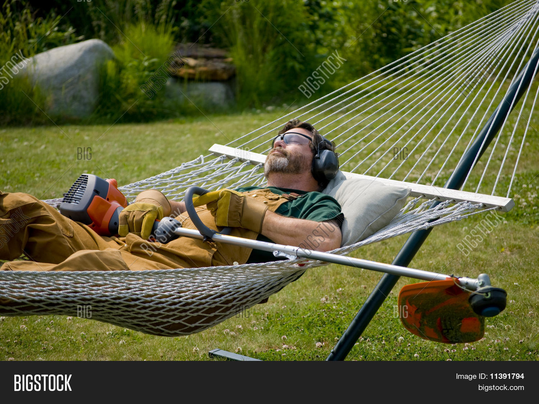 Man Sleeping Hammock Image Amp Photo