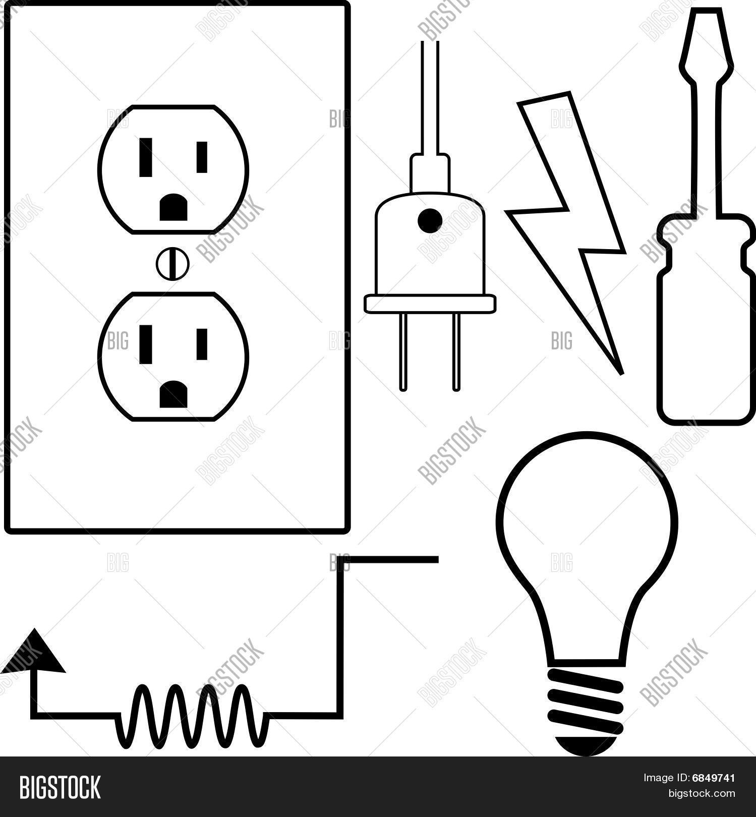 Electrical Repair Contractor Vector Amp Photo