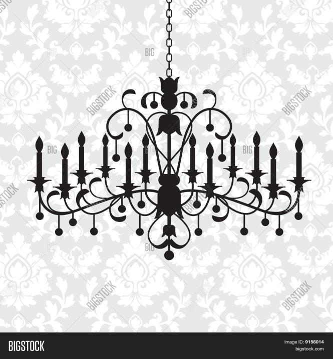Chandelier With Damask Pattern