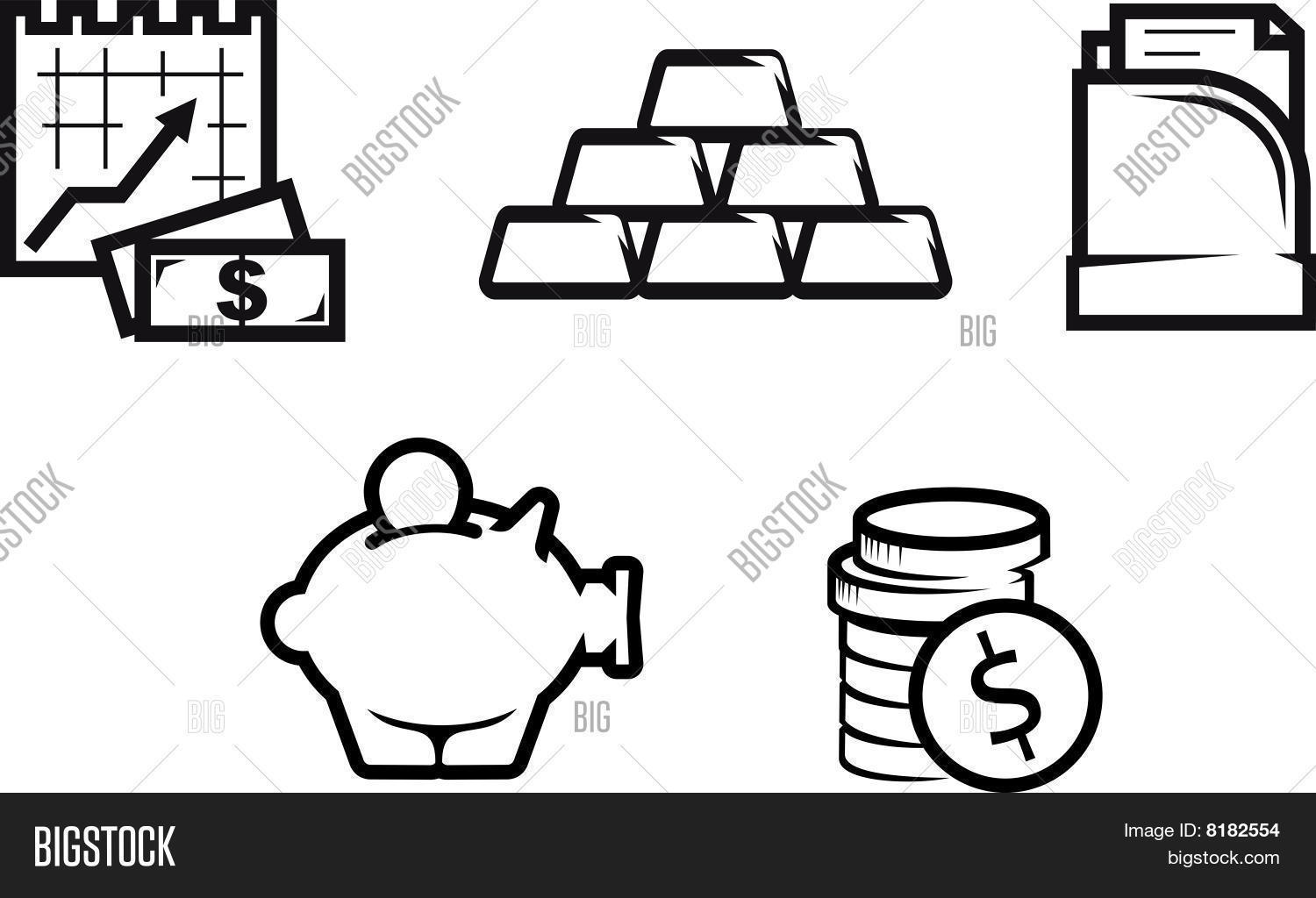 Finance Economics Symbols Vector Amp Photo