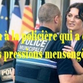 Sandra Bertin la poliziotta di Nizza che è stata denunciata dal governo francese