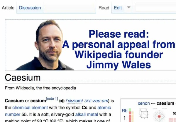 What's With The Huge Jimmy Wales Ads On Wikipedia? Wouldn ...