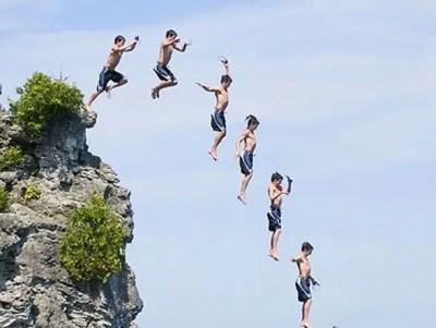 Jump Cliff Dive