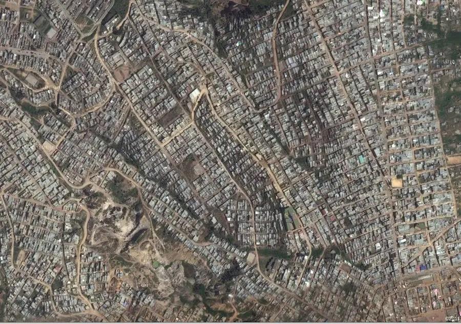 Altos de Cazuca, Colombia. A slum outside Bogota with approximately ...