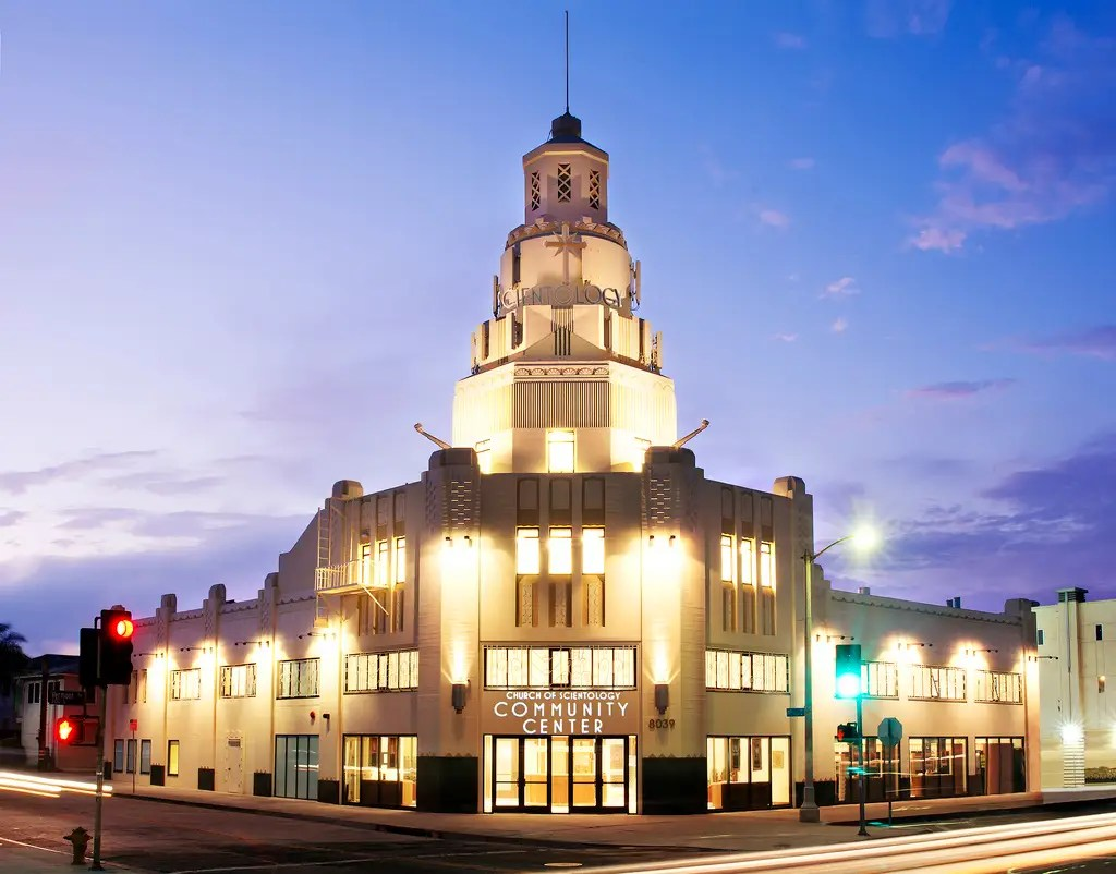 """This """"Community Center"""" on Vermont Avenue in Inglewood, Calif., is an historic art deco building which the Church restored. It has a 380-seat event hall."""
