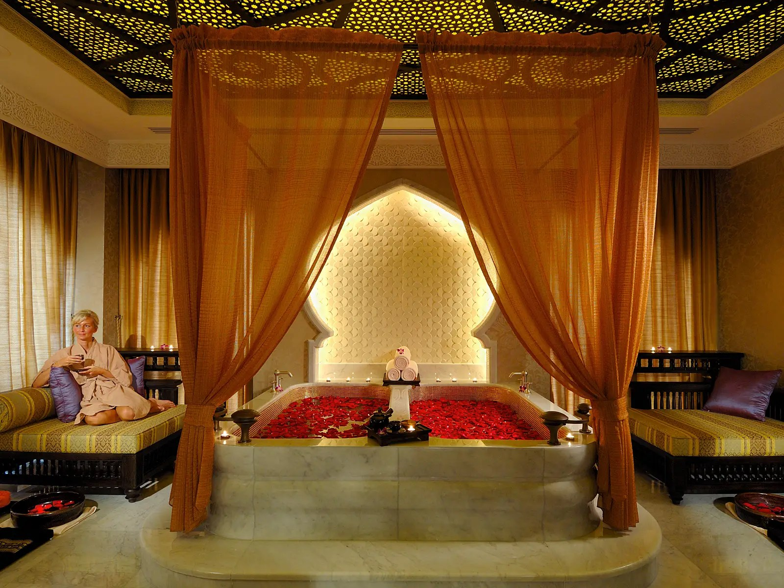 """The luxury spa has more than 30 treatments, including for men, couples, and so-called """"spa journeys"""" that draw on ancient as well as modern practices."""