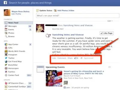 Facebook started flooding the News Feed with sponsored stories in January 2012.