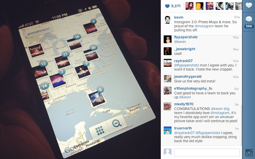 Meanwhile, the Instagram team was still hard at work. In mid-August, Instagram 3.0 was released.