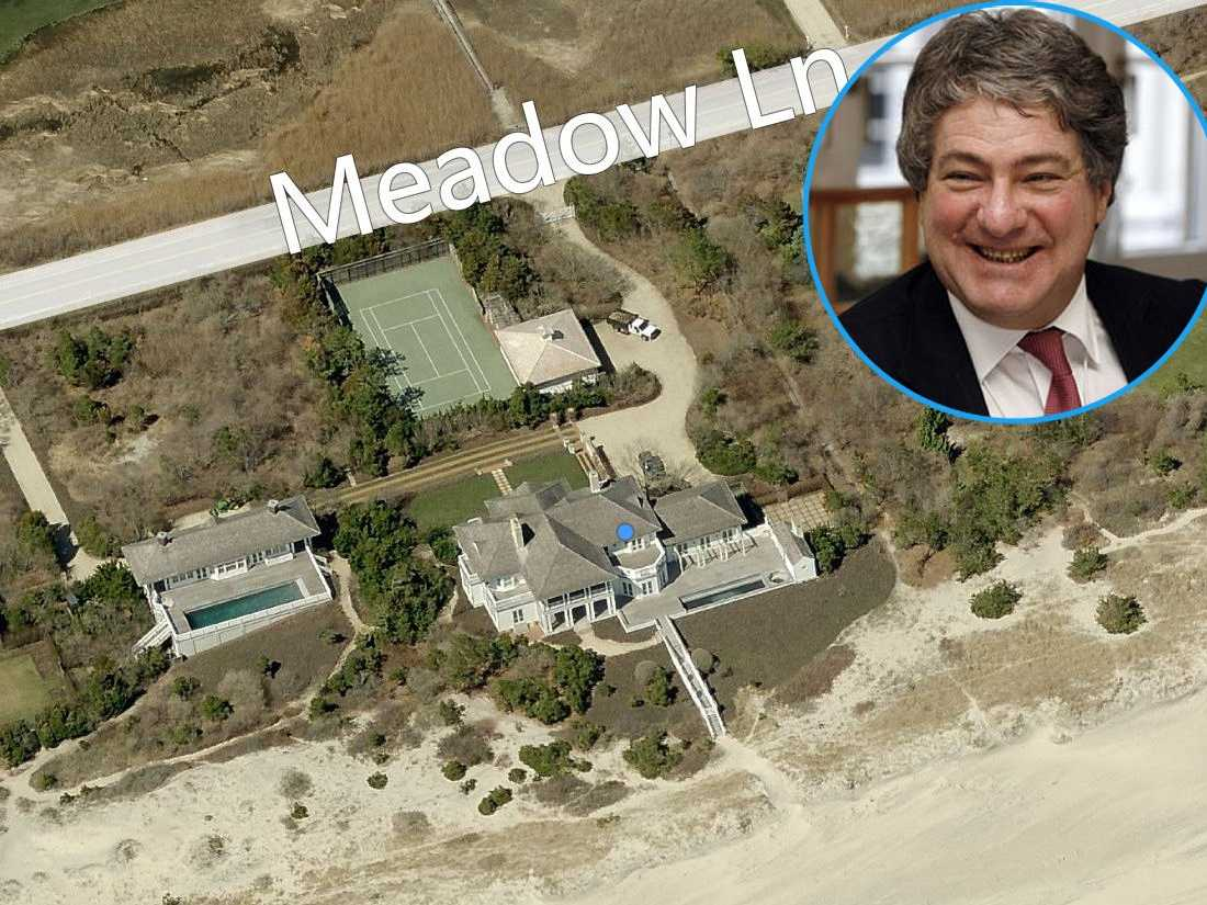 American businessman and founder of Apollo Global Management Leon Black owns this grandiose four-lot compound valued at $42.8 million.
