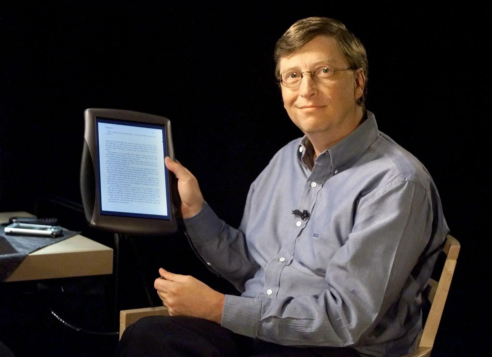 Bill Gates tablet 2000