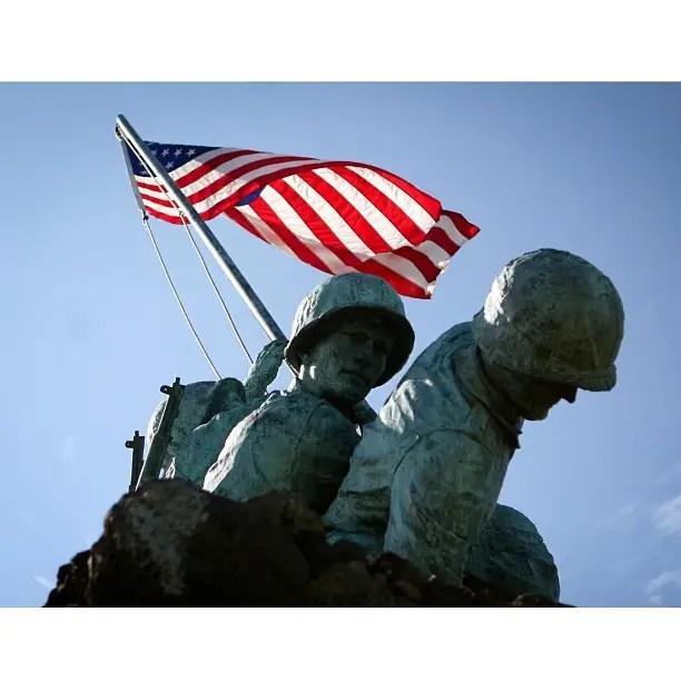 The Iwo Jima memorial.