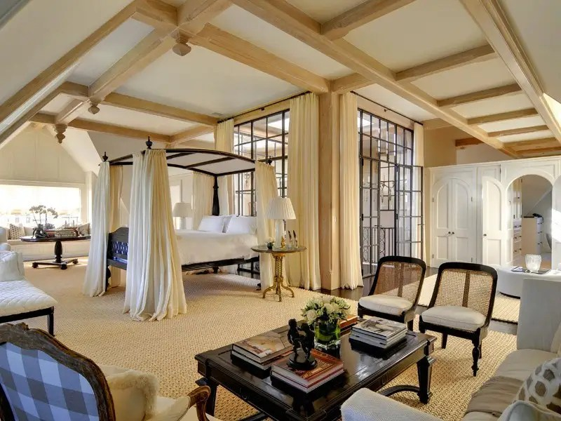 But those can't compare to the master bedroom, which is gigantic and airy.