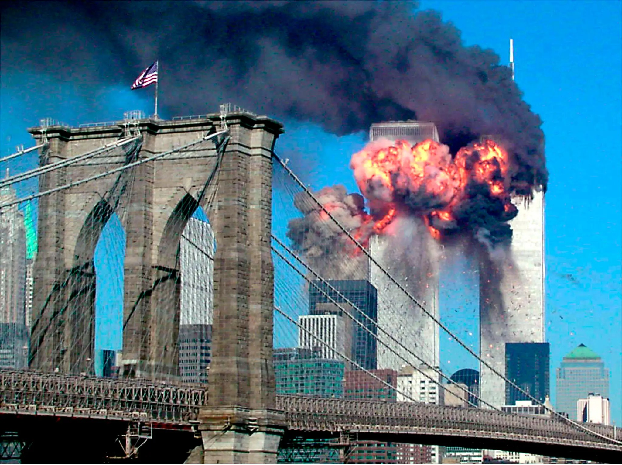 An image from the 9/11 or Al-Qaeda attacks on New York and Washington in September 2001