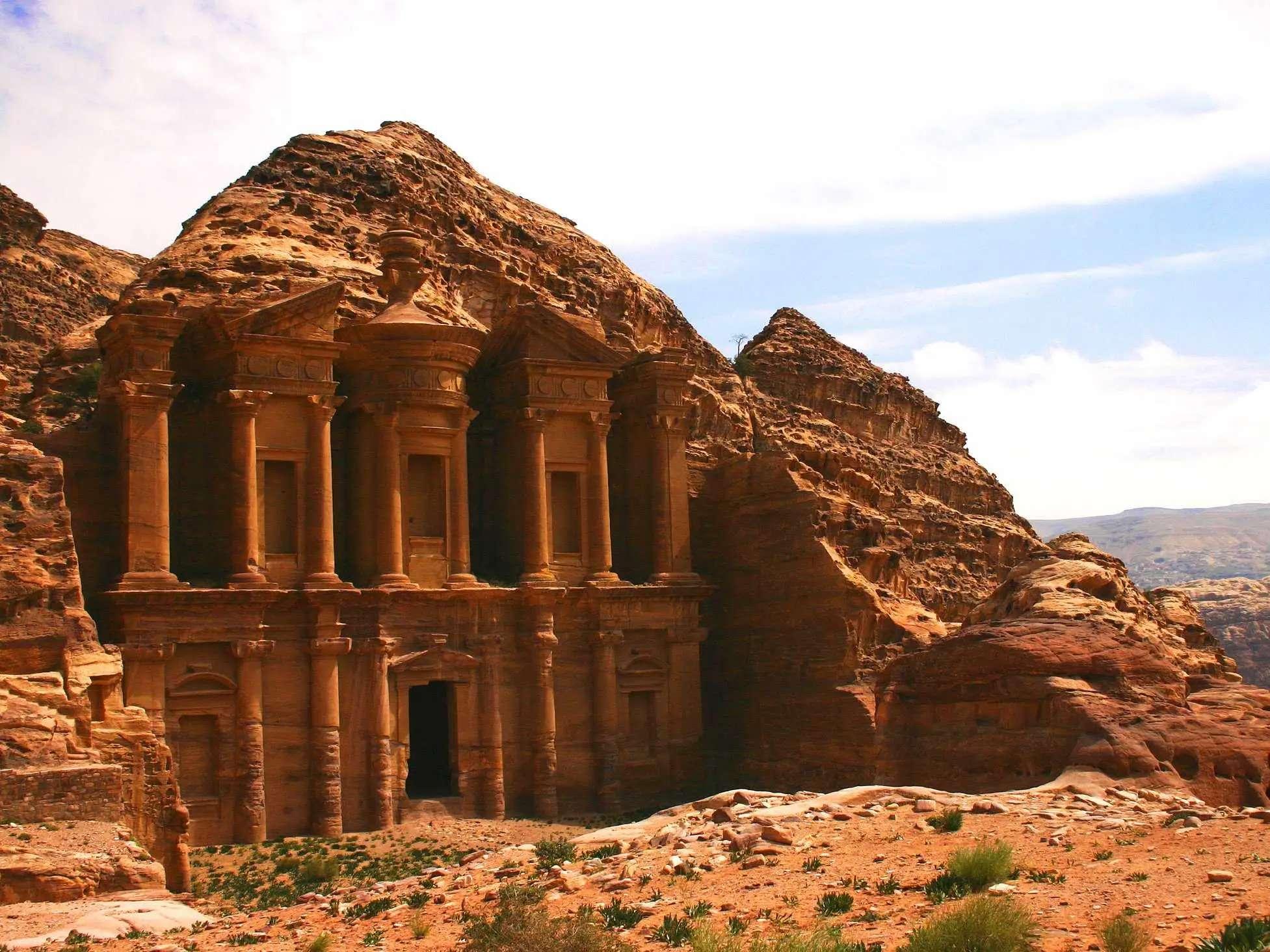 Explore the streets of Petra, an ancient rock city in Jordan.