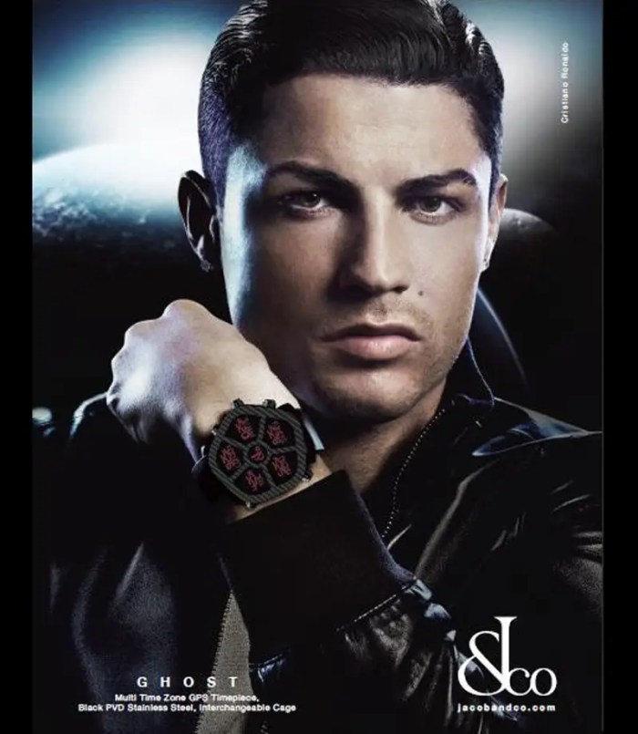 He has a deal with Jacob & Co. watches, and has been spotted wearing their $160,000 watches.
