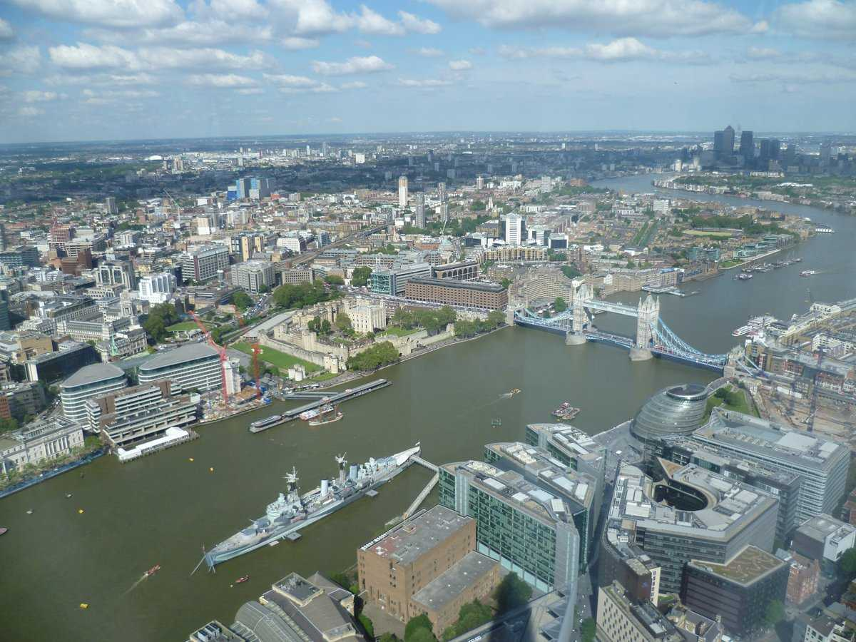 View from the Shard, London, skyline