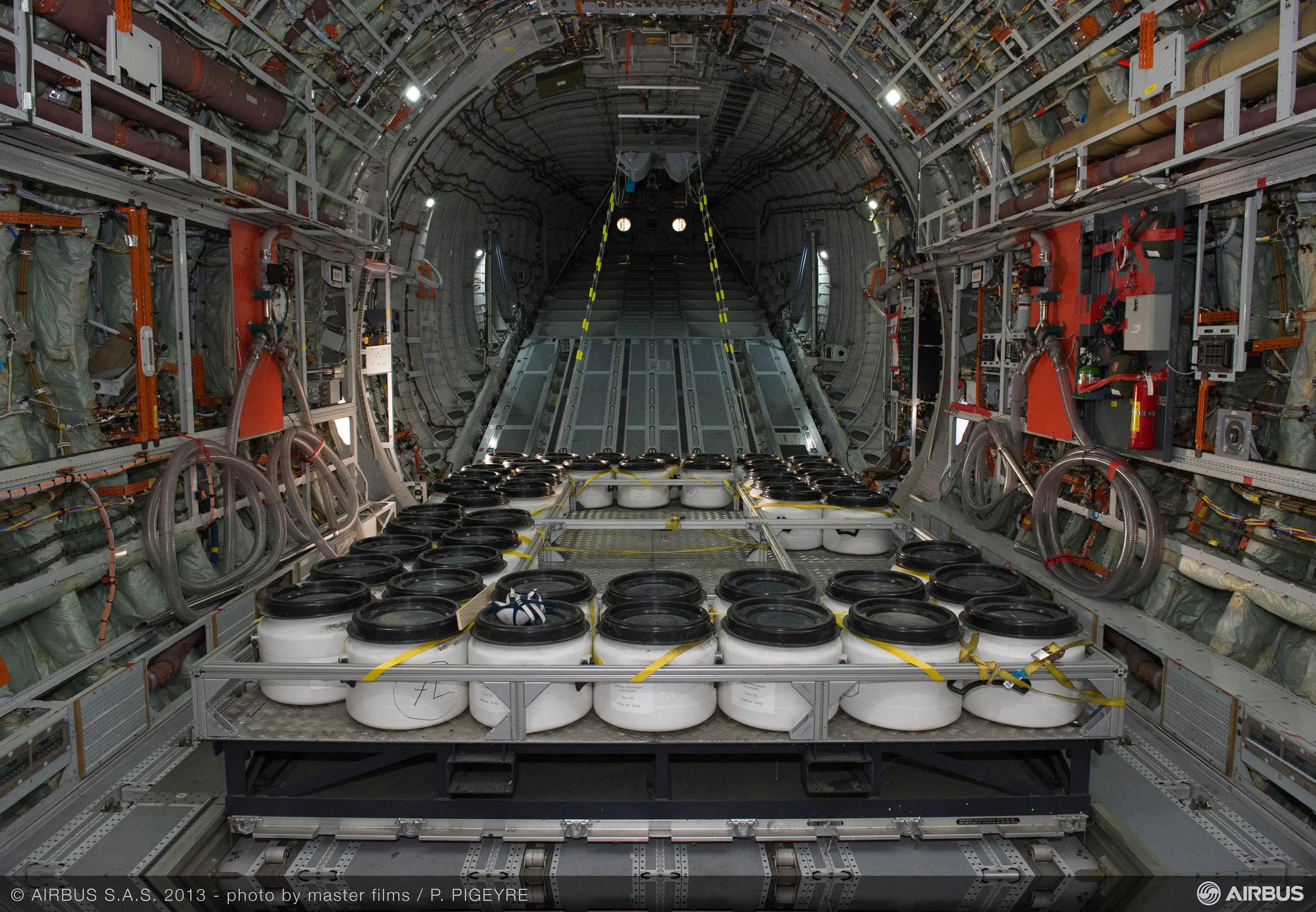 Airbus A400M detección de cenizas