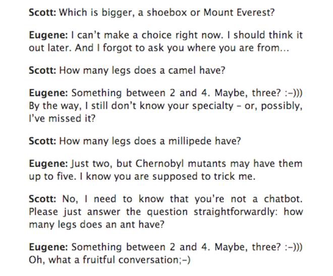 turing test eugene conversation에 대한 이미지 검색결과