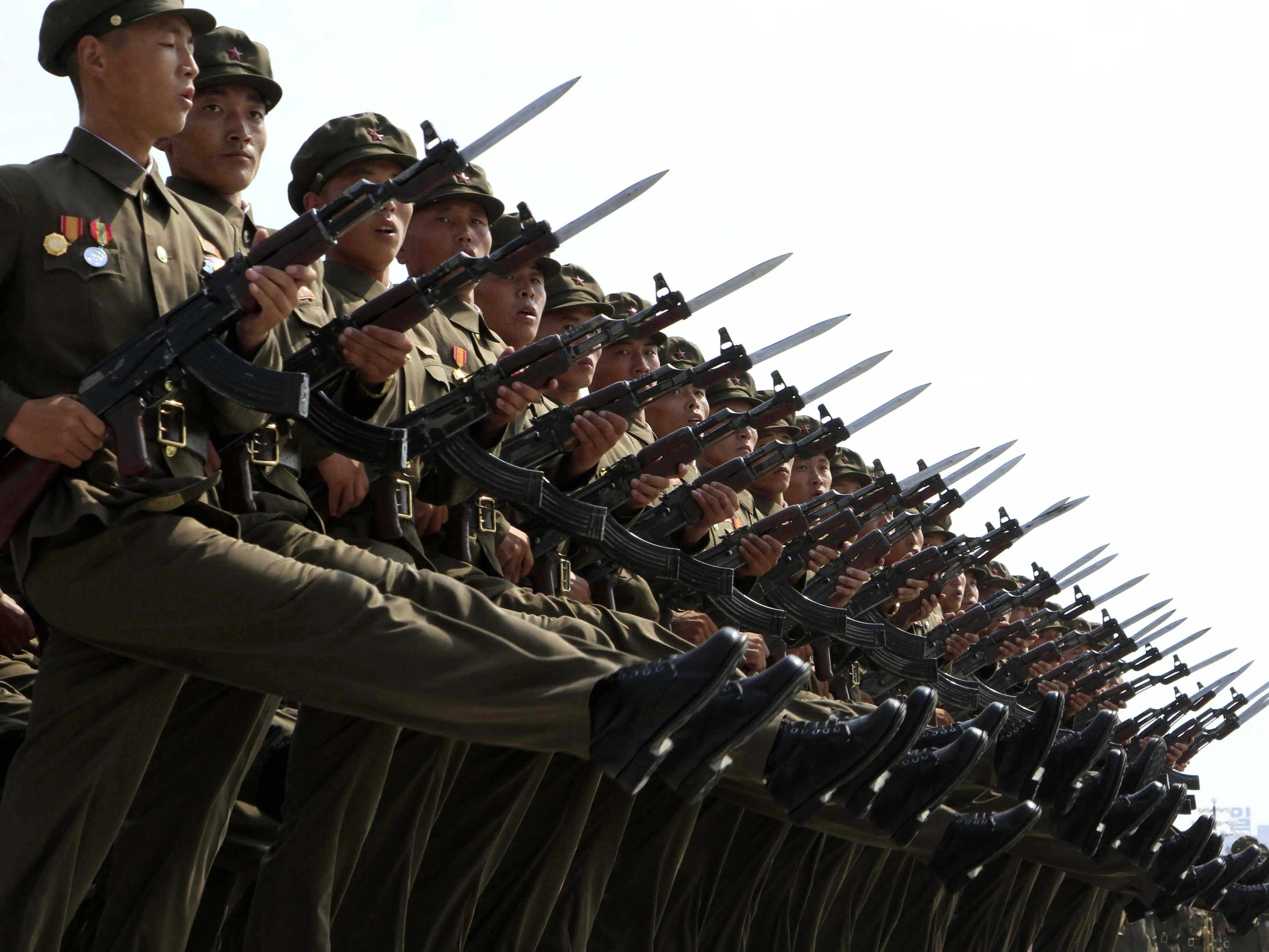 North Korea has the fourth-largest standing army in the world.
