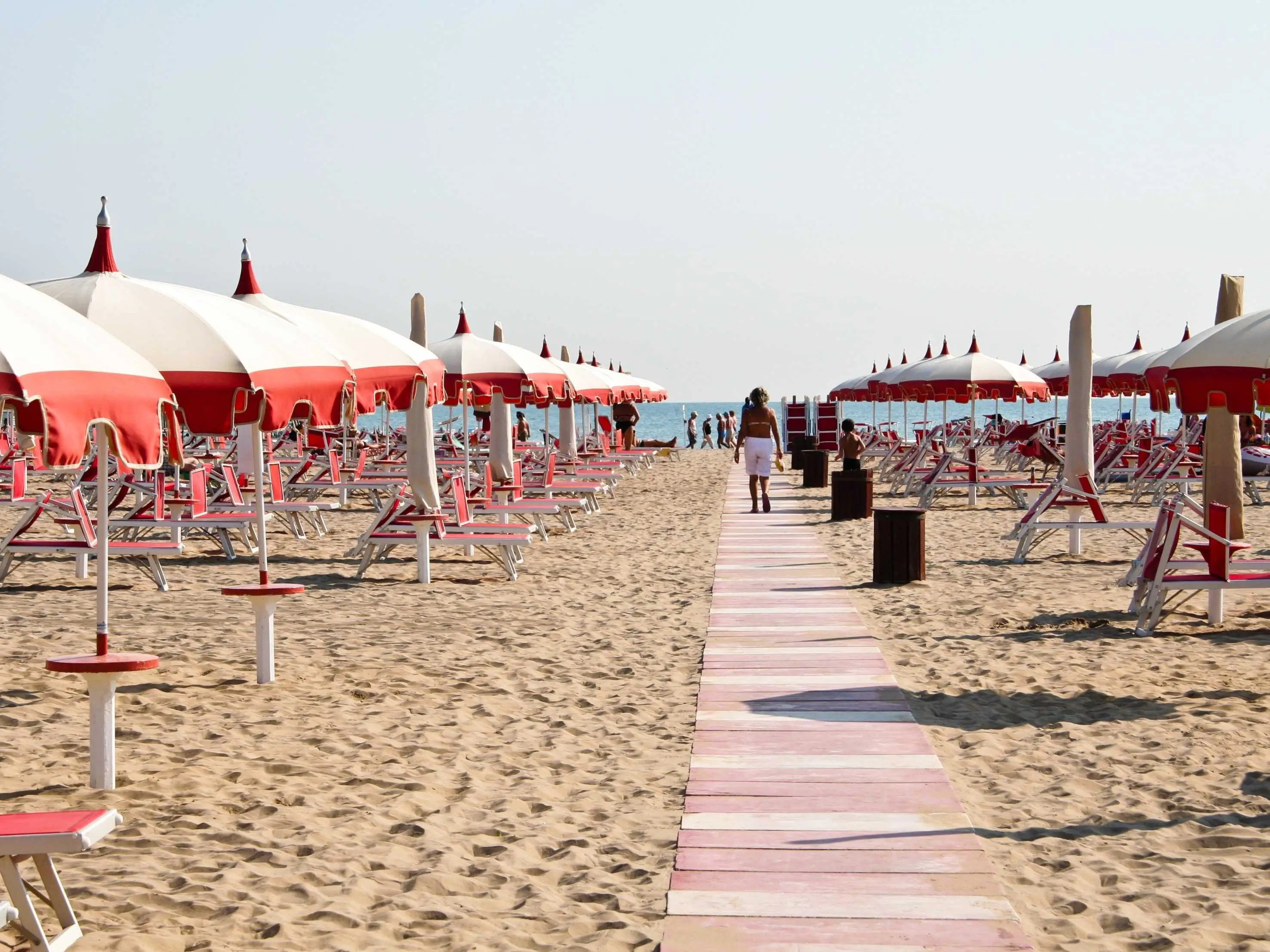 Bask in the sun at the beaches of Rimini.