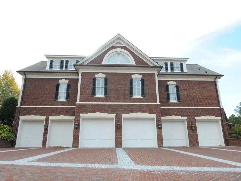 A 14-car garage is located on the property, detached from the main home.