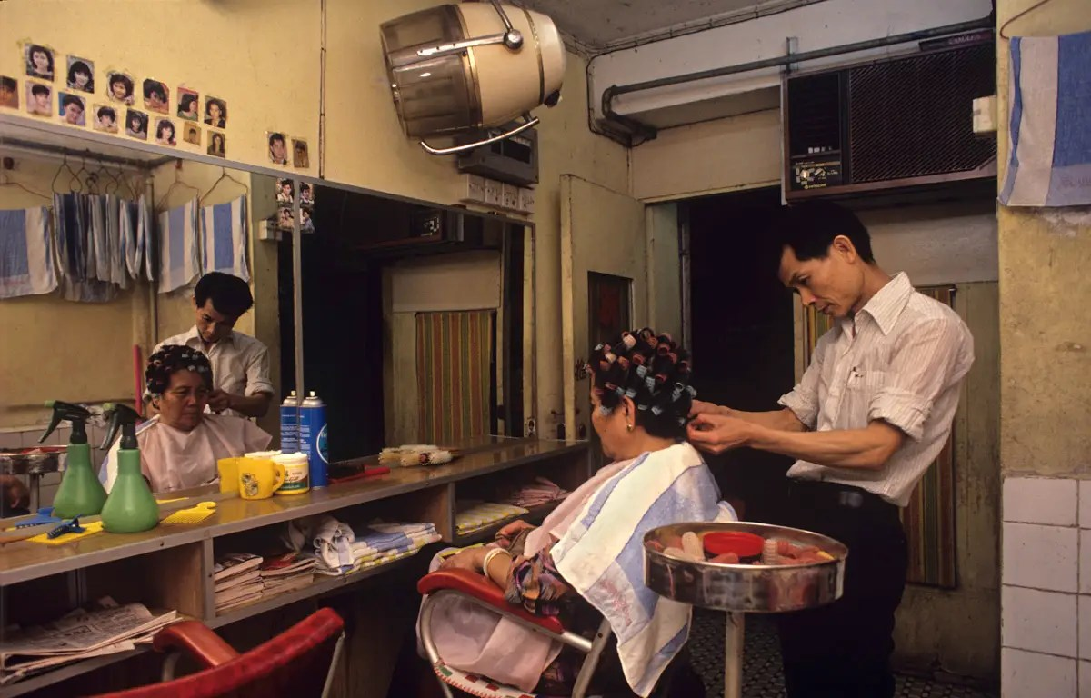 Many businesses took advantage. Ho Chi Kam ran a hairdressing salon with his wife in the city until 1991. After Ho was forced out of the Walled City, he had to go back to working for others because he could not afford the rent elsewhere.