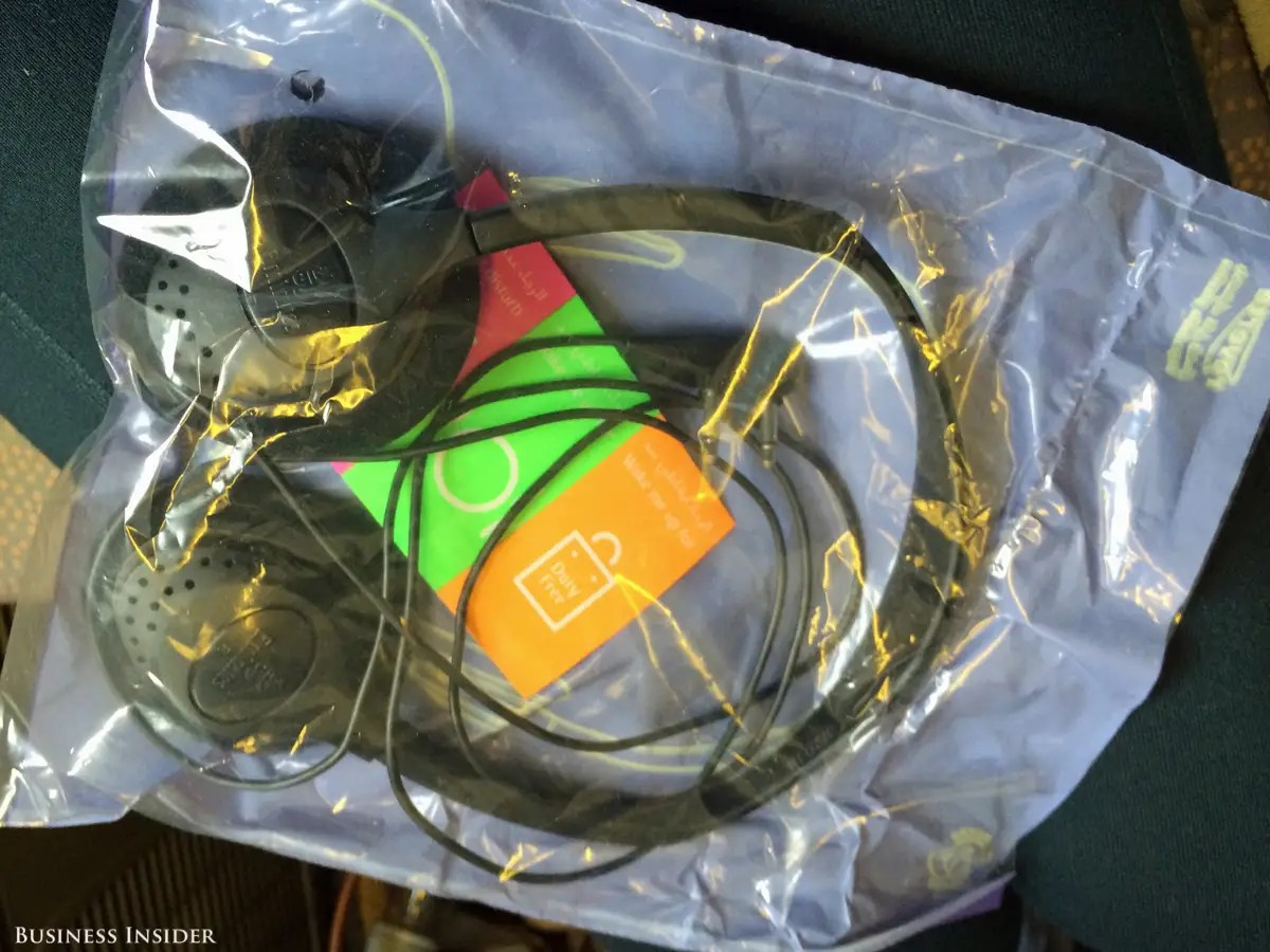 And a set of headphones and some brightly colored stickers.