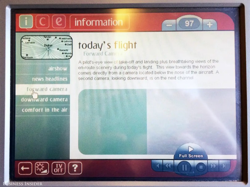 The coolest part of Ice were the real-time cameras on the front and underbelly on the plane.