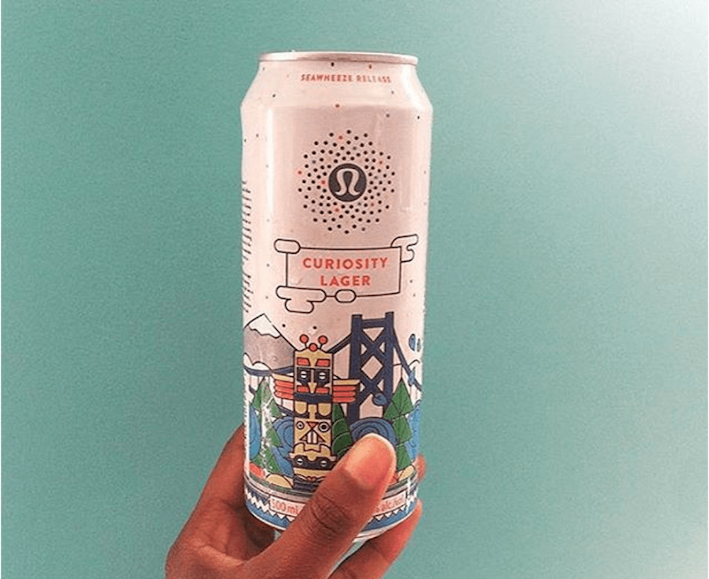 Lululemon has also tried luring men in with its own beer ...